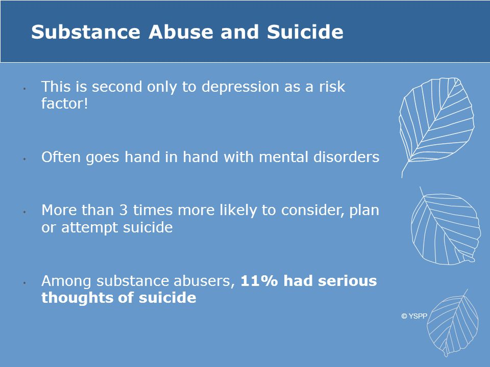 Substance Abuse and Suicide