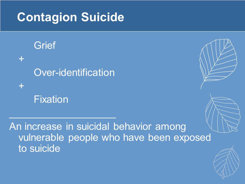 Contagion Suicide