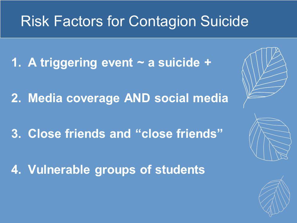 Risk Factors for Contagion Suicide