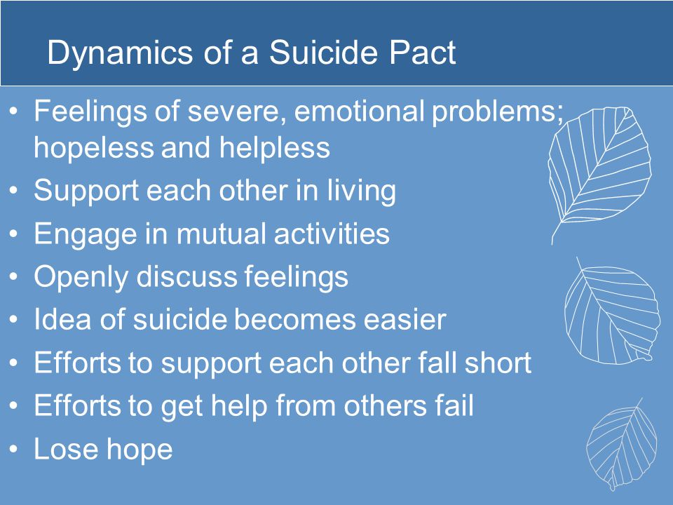 Dynamics of a Suicide Pact