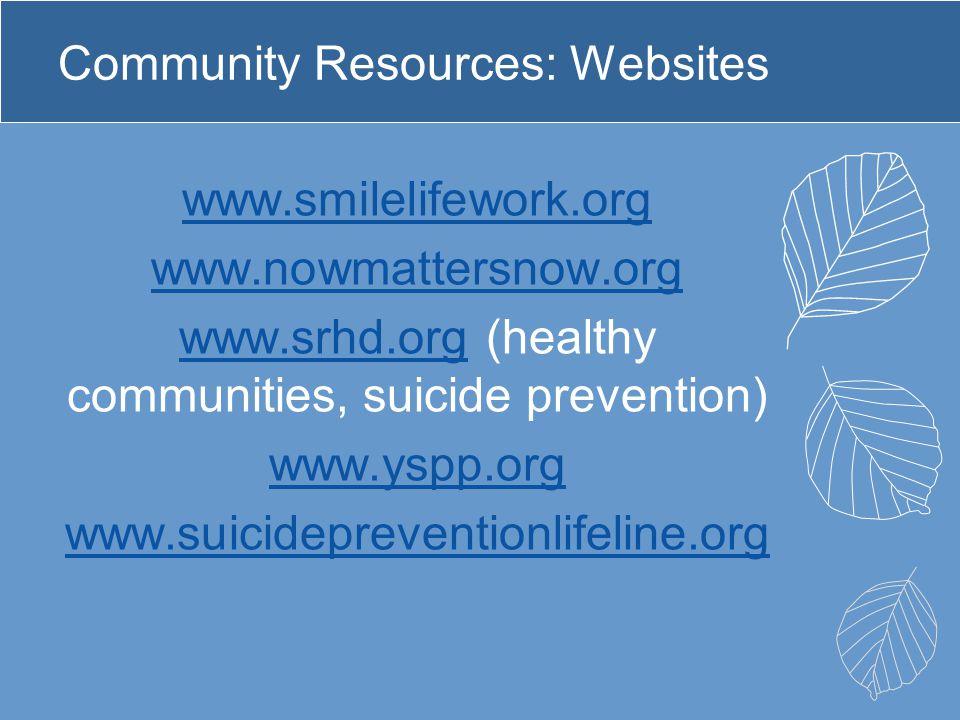 Community Resources: Websites