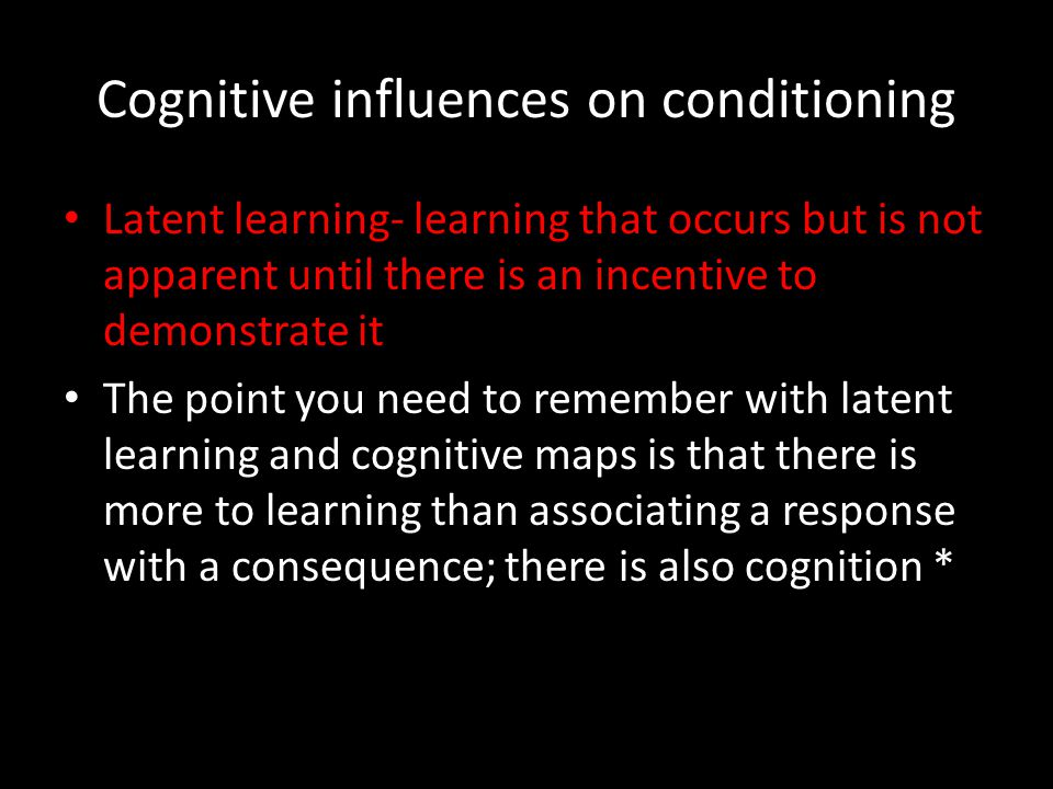 Cognitive influences on conditioning