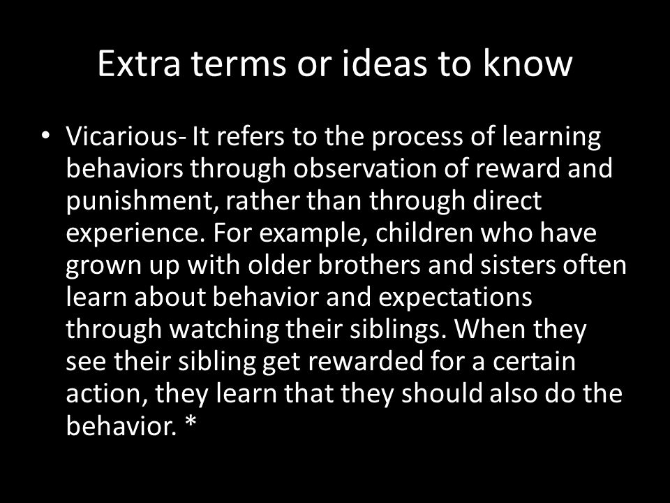 Extra terms or ideas to know