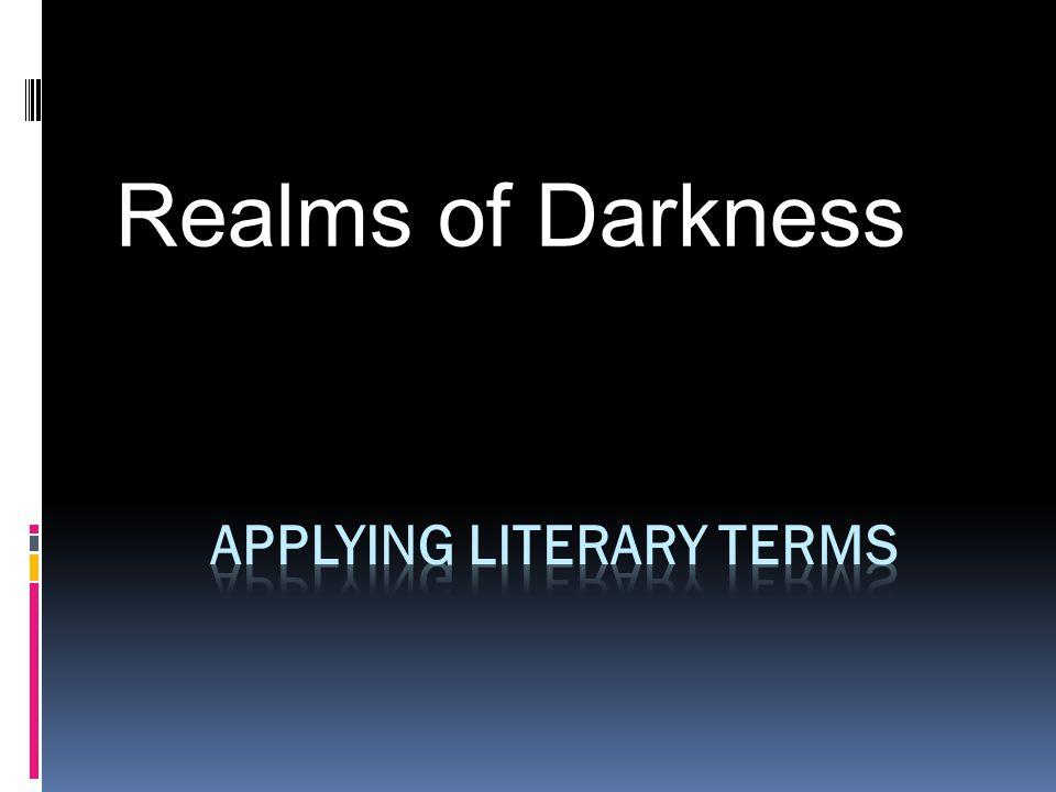 Applying Literary Terms