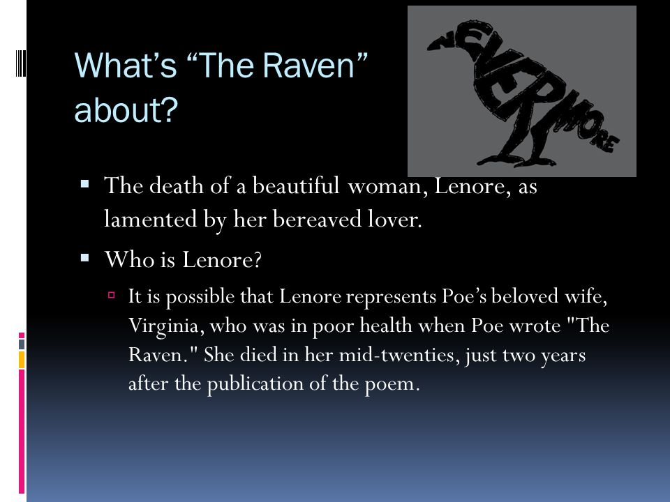 What's The Raven about