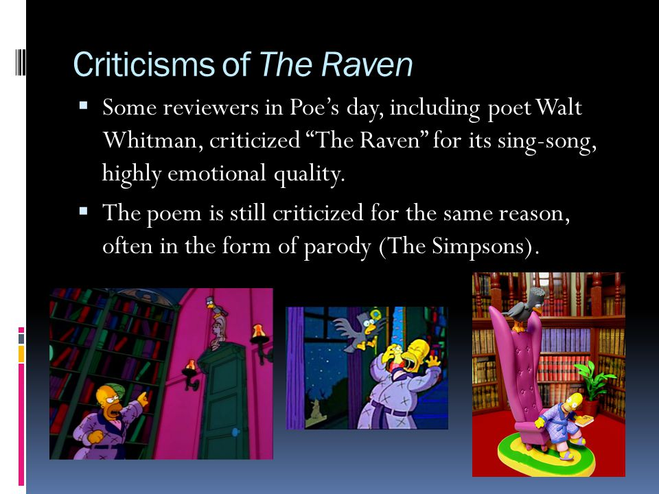 Criticisms of The Raven