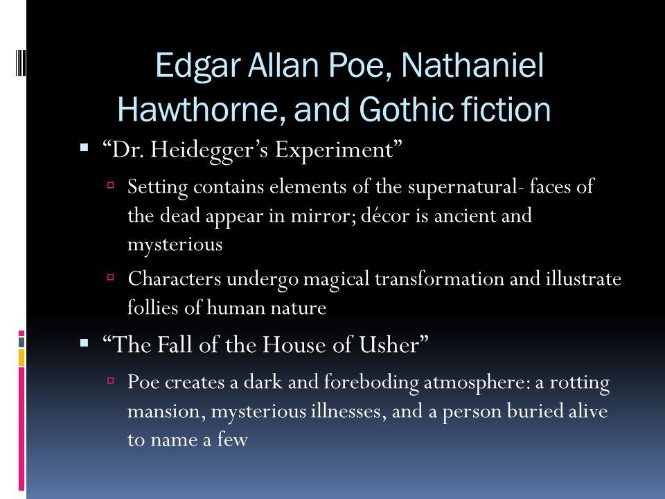 Edgar Allan Poe, Nathaniel Hawthorne, and Gothic fiction