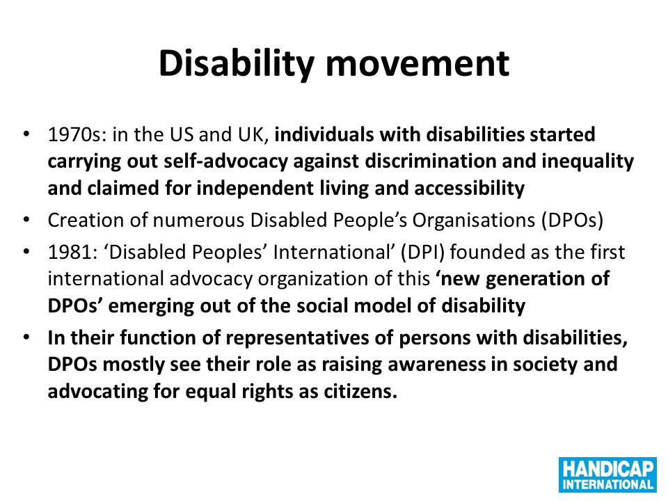 Disability movement