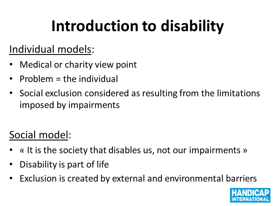 Introduction to disability