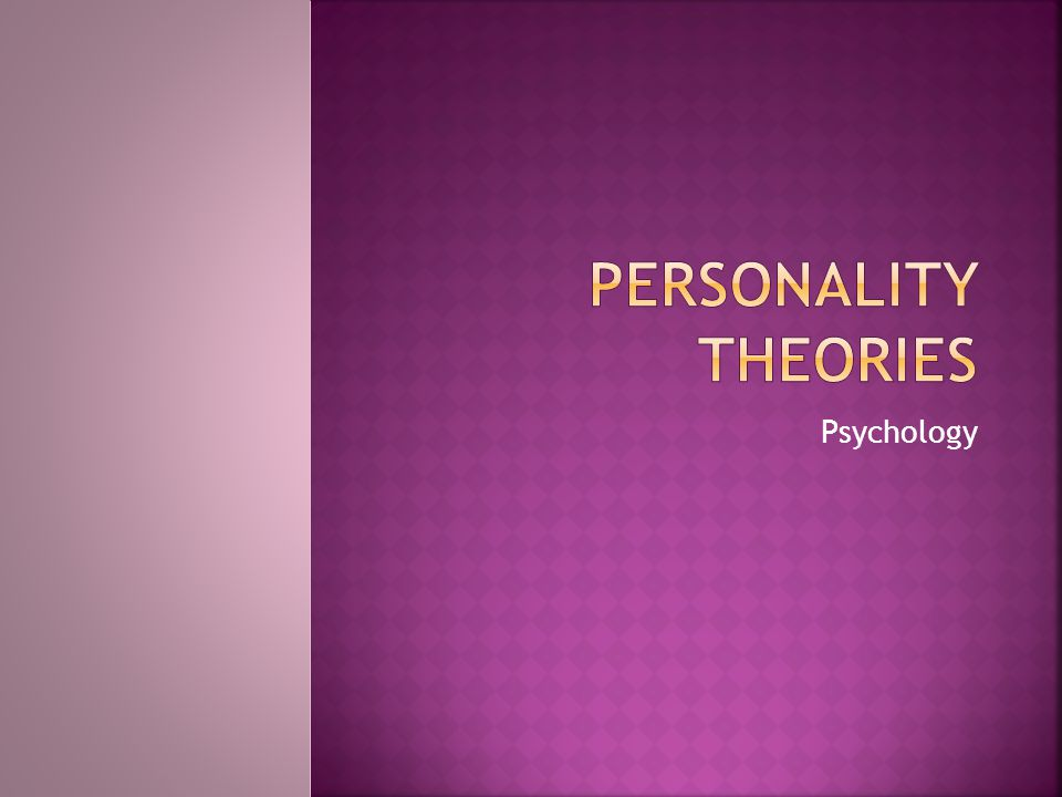 a look at the classical alderian psychology of the theory of personality Alfred adler--another chapter from boeree's online personality classical adlerian psychology--website of there are many forms of psychodynamic theory.