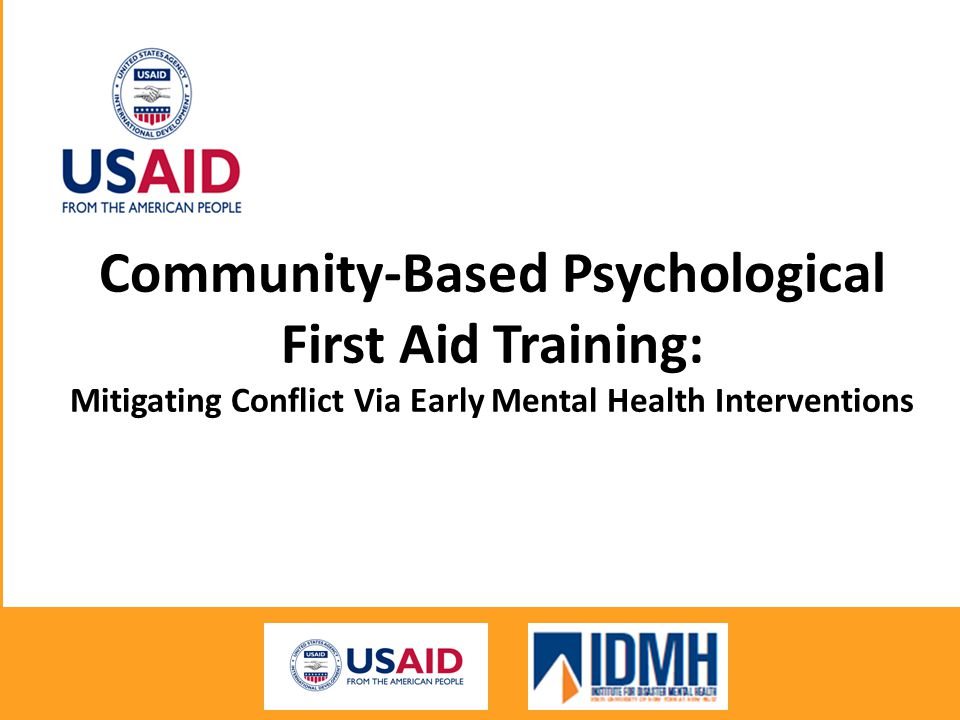 Community-Based Psychological First Aid Training: Mitigating Conflict Via Early Mental Health Interventions