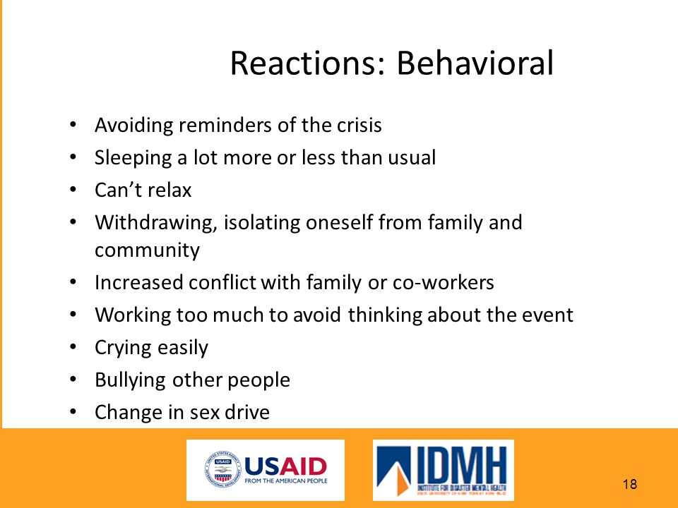 Reactions: Behavioral