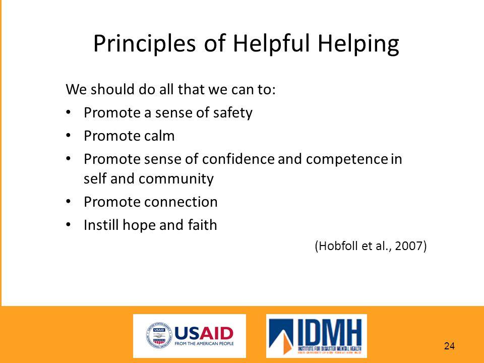 Principles of Helpful Helping