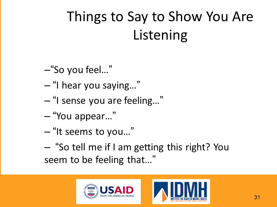 Things to Say to Show You Are Listening