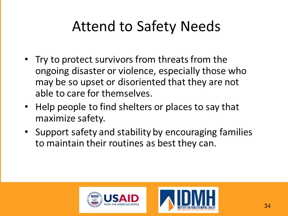 Attend to Safety Needs
