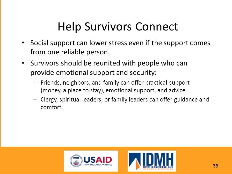Help Survivors Connect