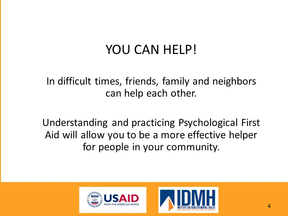 In difficult times, friends, family and neighbors can help each other.