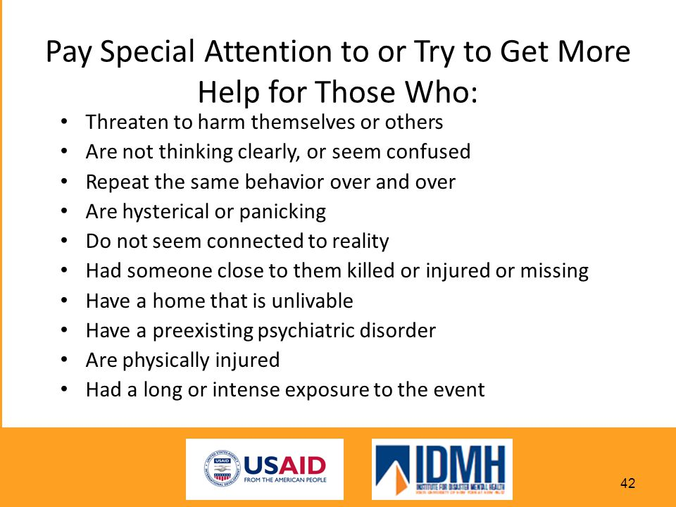 Pay Special Attention to or Try to Get More Help for Those Who: