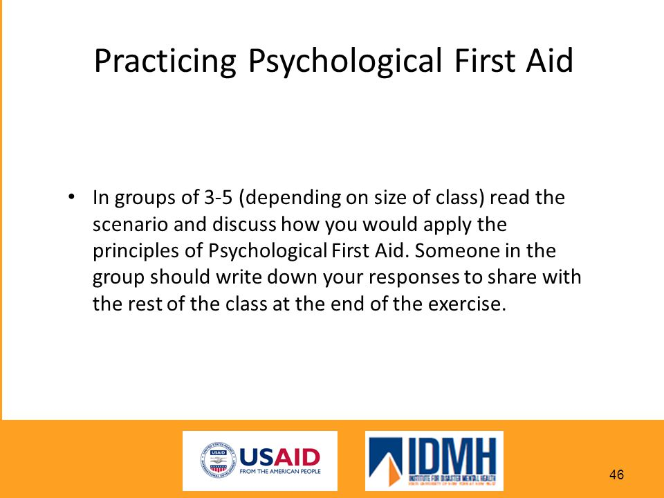 Practicing Psychological First Aid