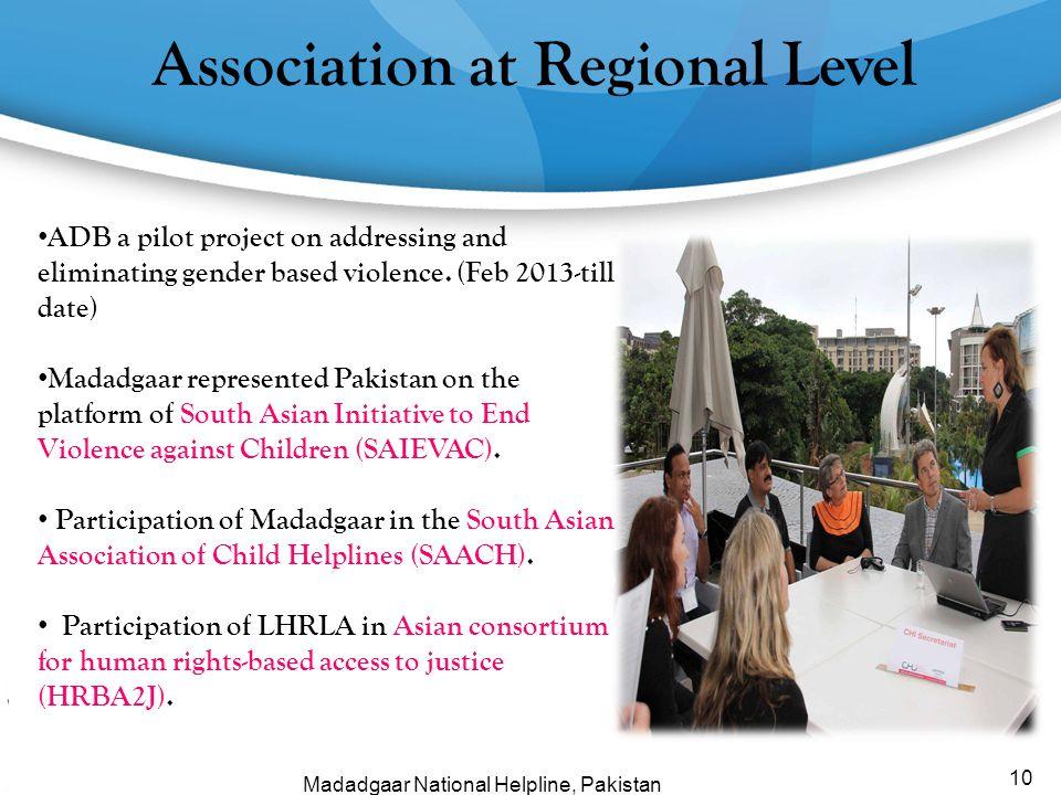 Association at Regional Level