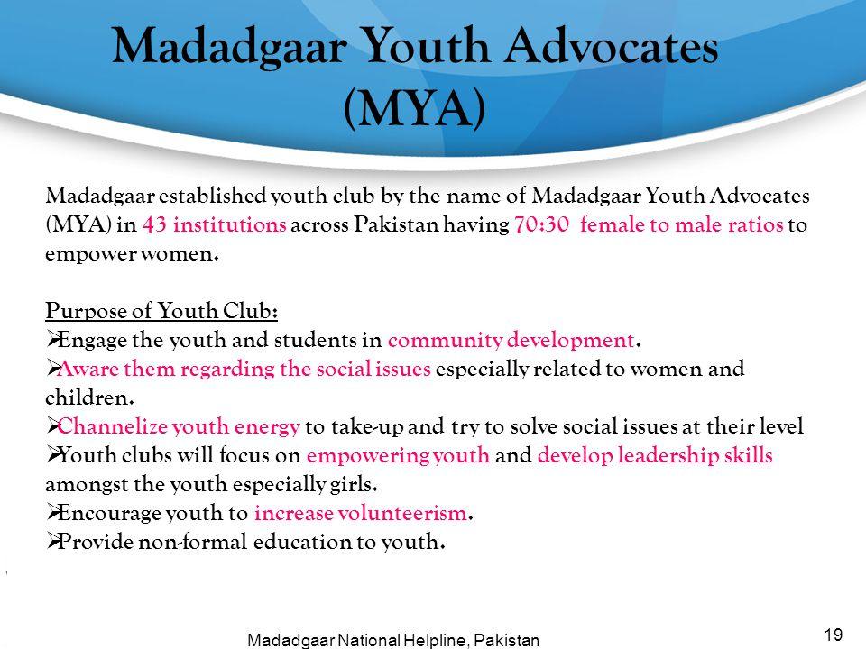 Madadgaar Youth Advocates (MYA)