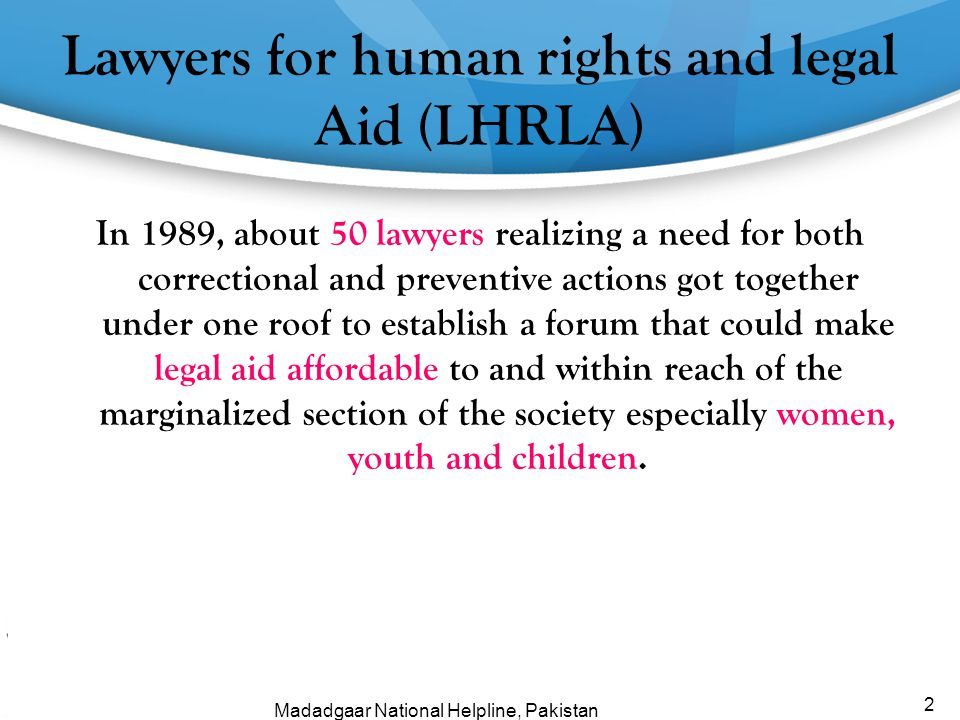 Lawyers for human rights and legal Aid (LHRLA)