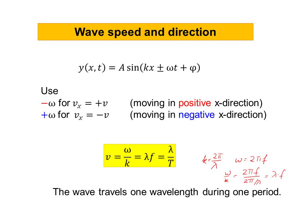 Wave speed and direction