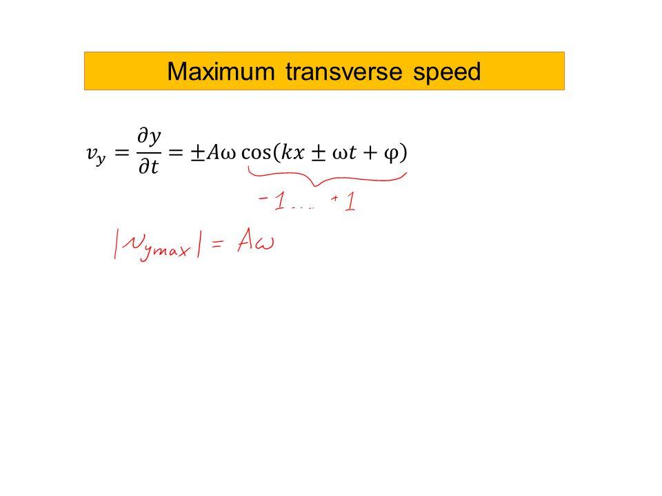 Maximum transverse speed