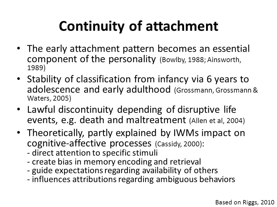 Continuity of attachment