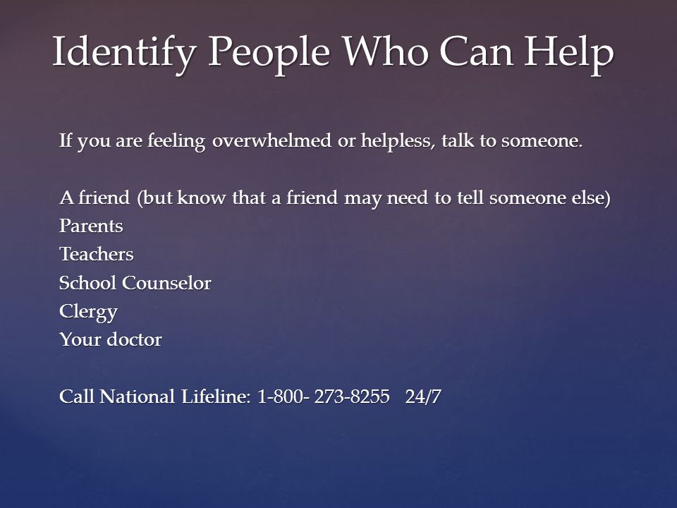 Identify People Who Can Help