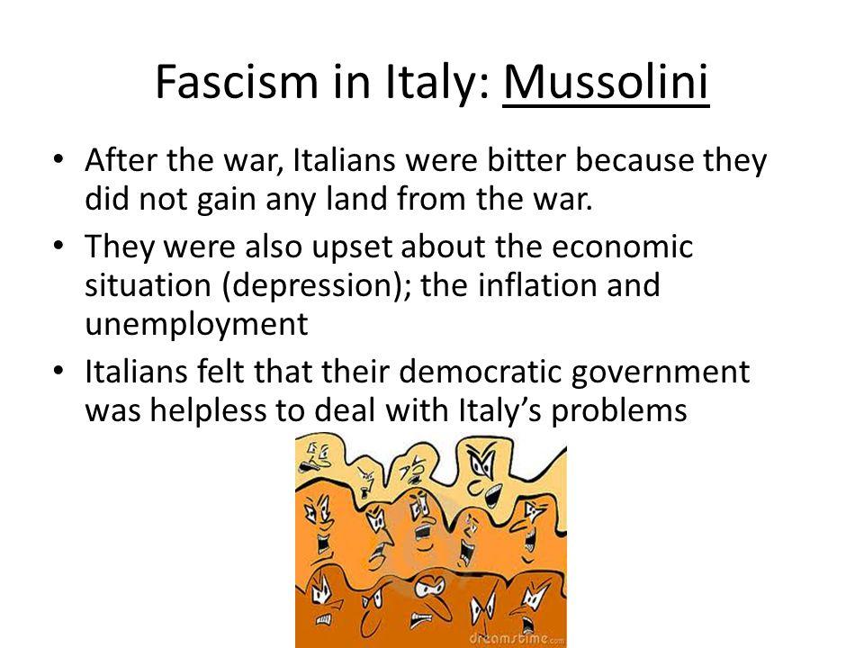 Fascism in Italy: Mussolini