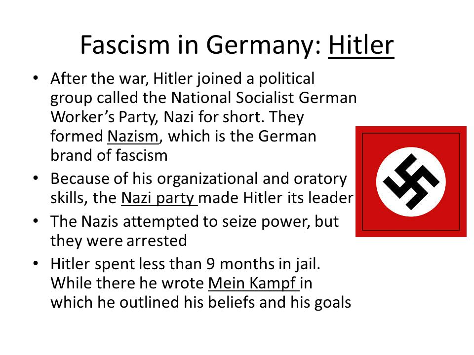 Fascism in Germany: Hitler