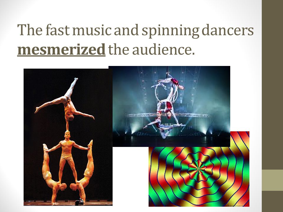 The fast music and spinning dancers mesmerized the audience.