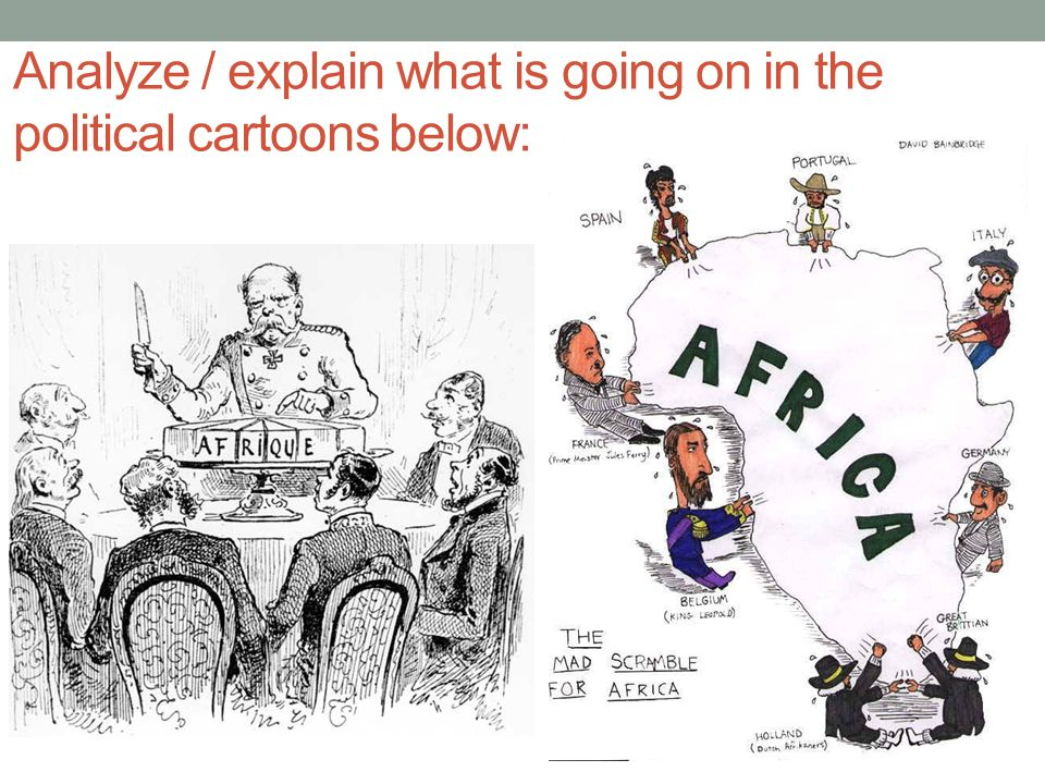Analyze / explain what is going on in the political cartoons below: