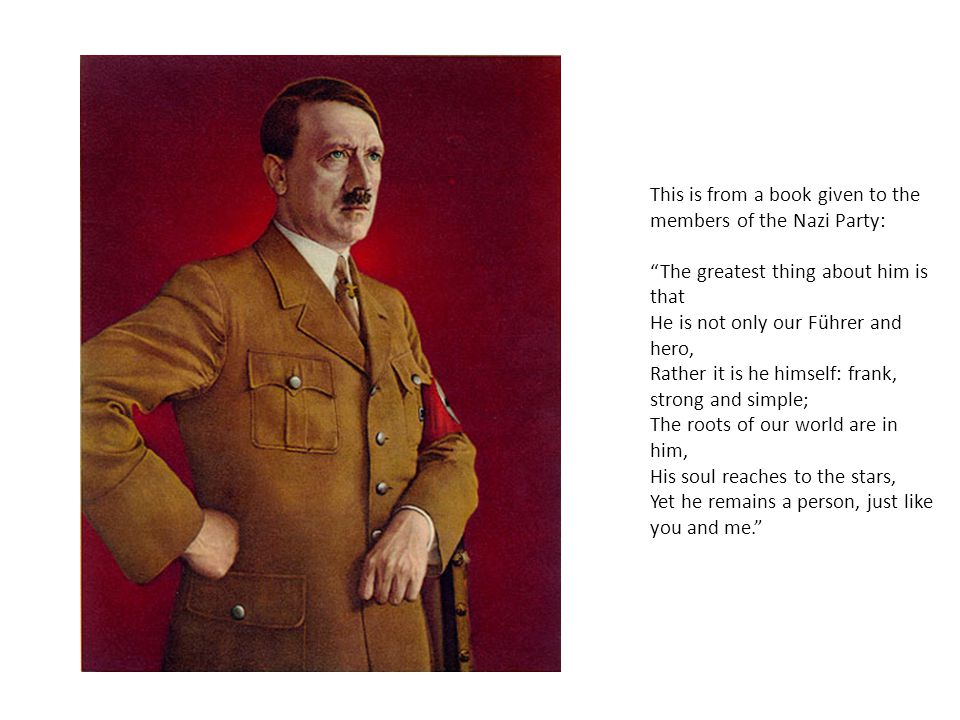 This is from a book given to the members of the Nazi Party: