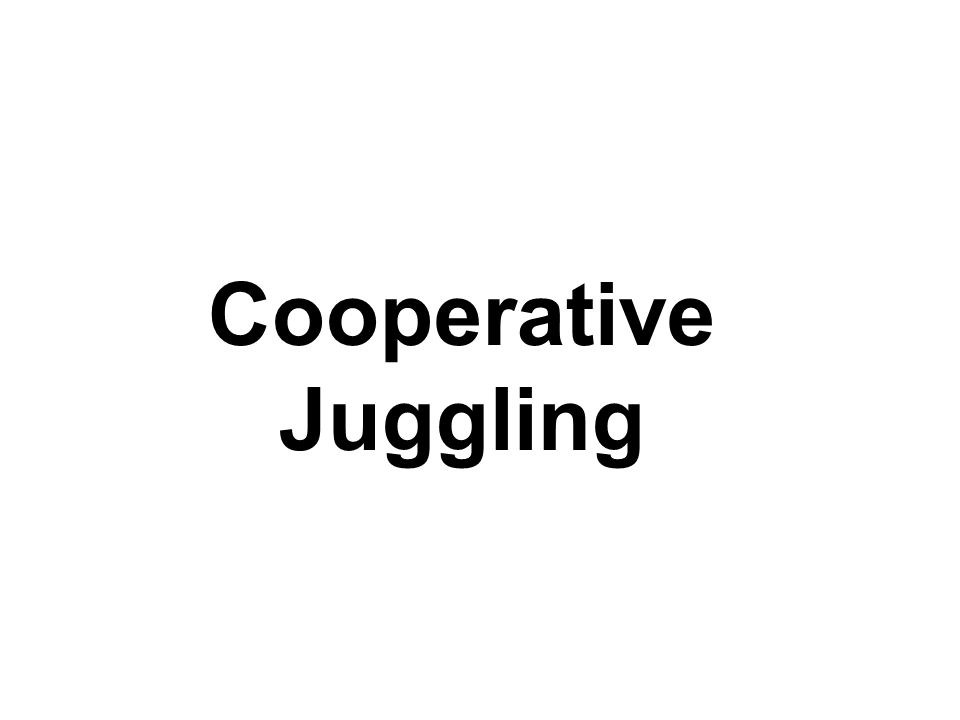 Cooperative Juggling