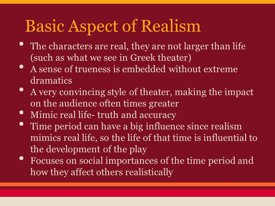 Basic Aspect of Realism