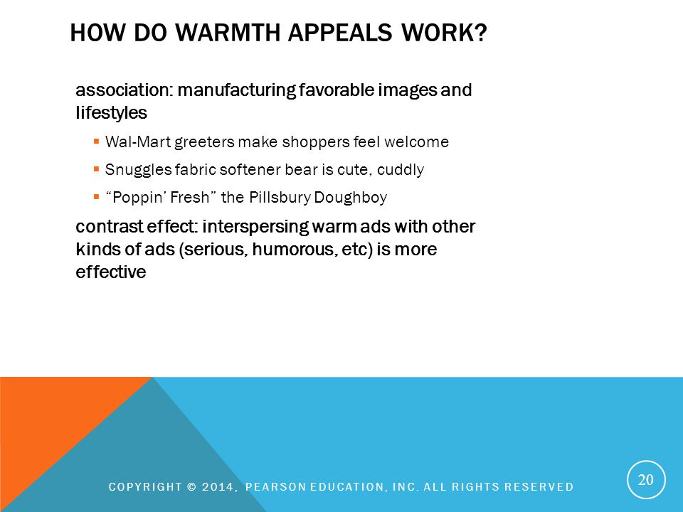 How do warmth appeals work
