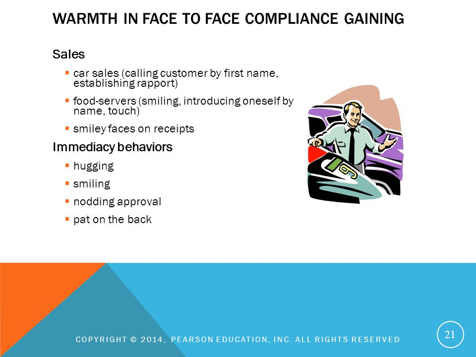 Warmth in face to face compliance gaining