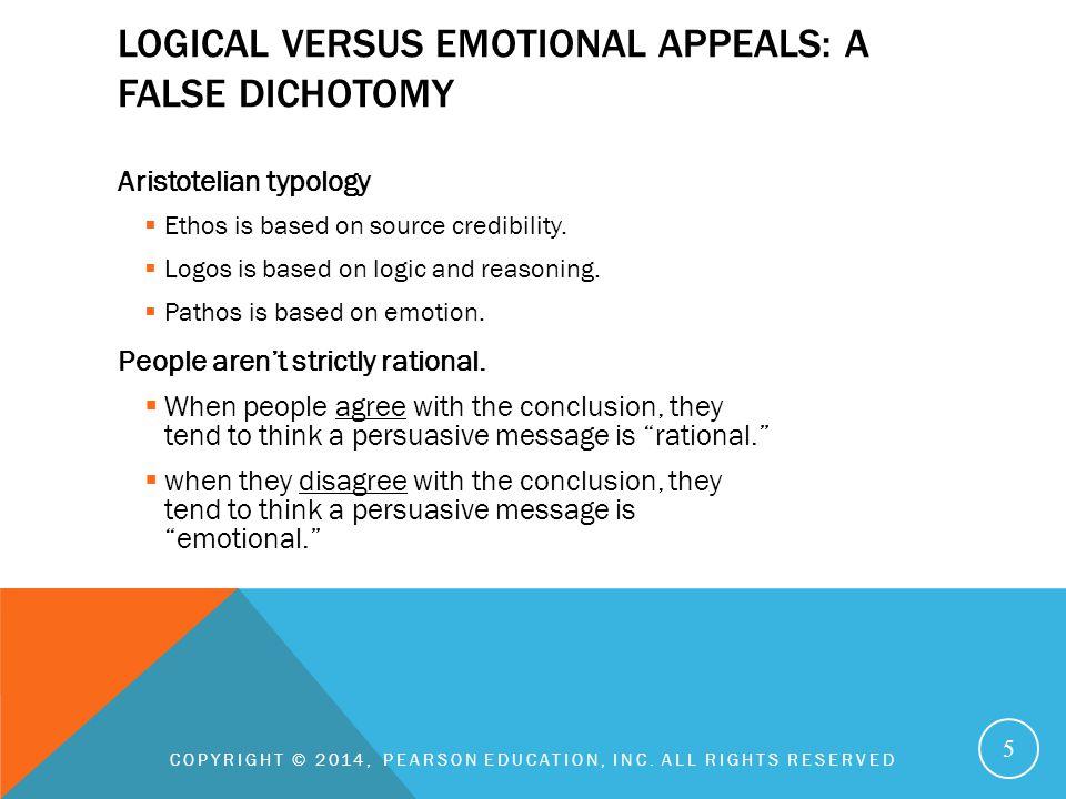 Logical versus emotional appeals: A false dichotomy