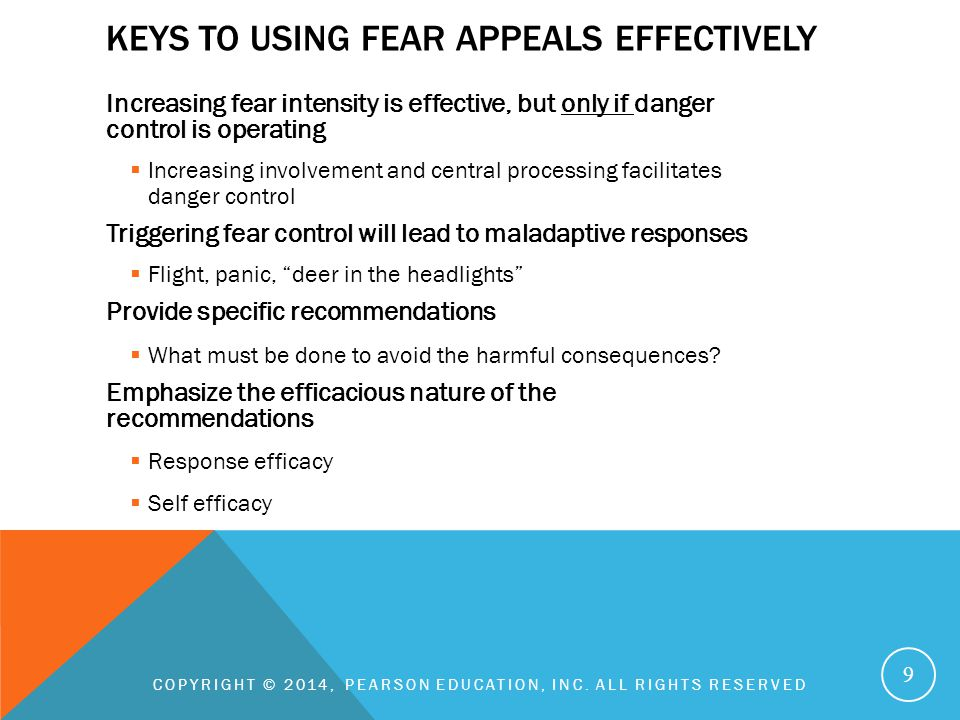 Keys to using fear appeals effectively
