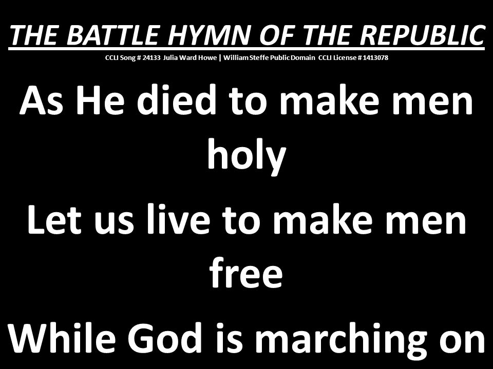 While God is marching on