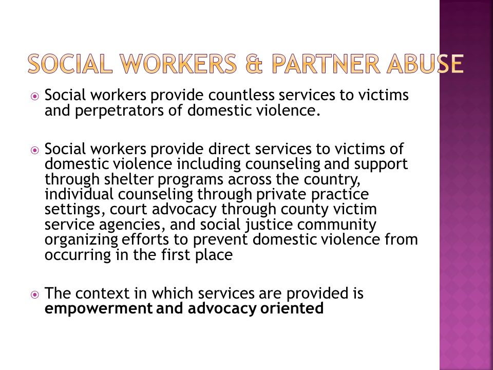 Social Workers & Partner Abuse