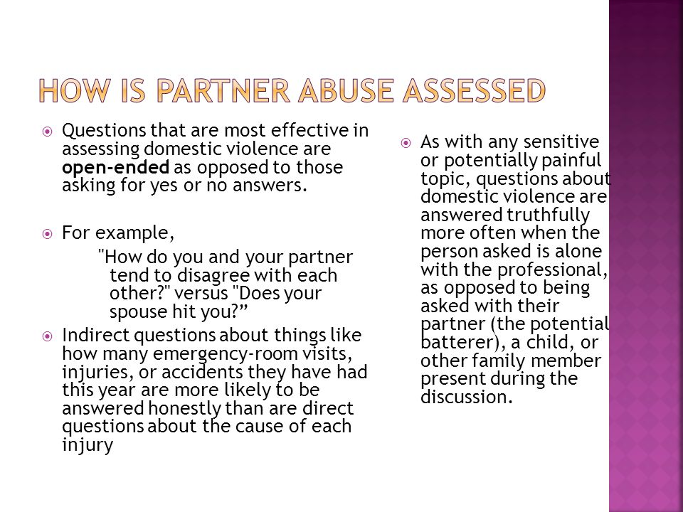 How is Partner Abuse Assessed