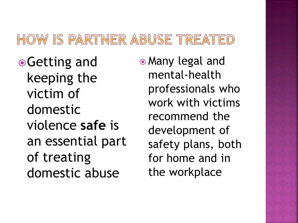 How is Partner Abuse Treated