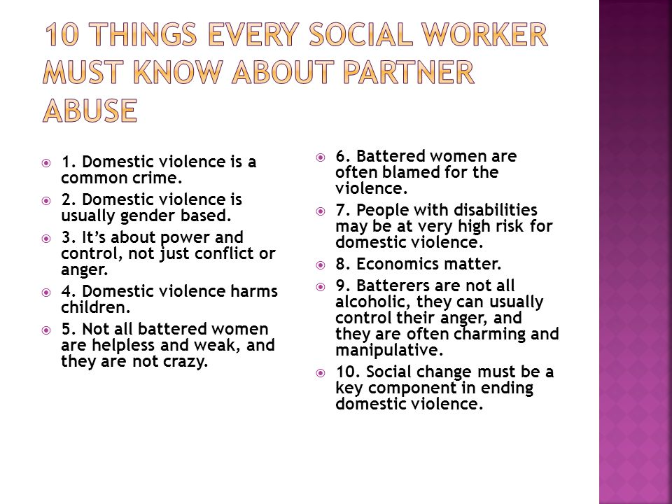 10 Things Every Social Worker Must Know About Partner Abuse