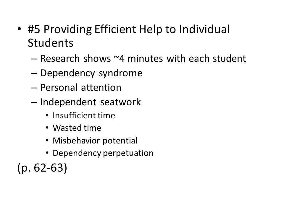 #5 Providing Efficient Help to Individual Students
