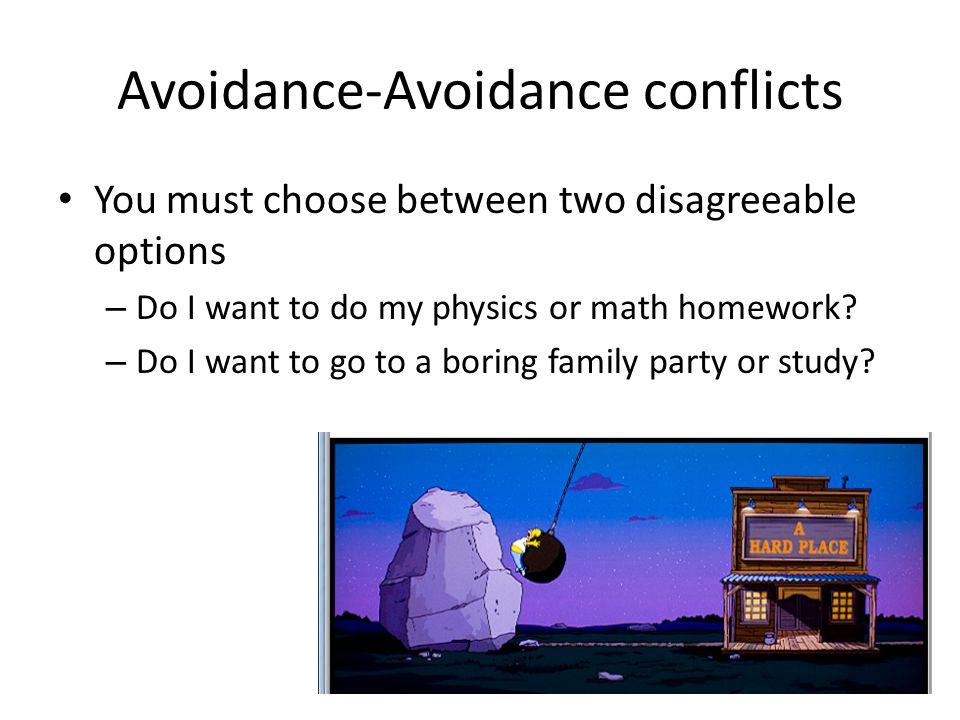 Avoidance-Avoidance conflicts