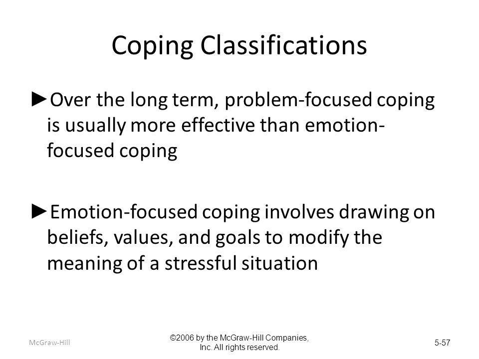 Coping Classifications