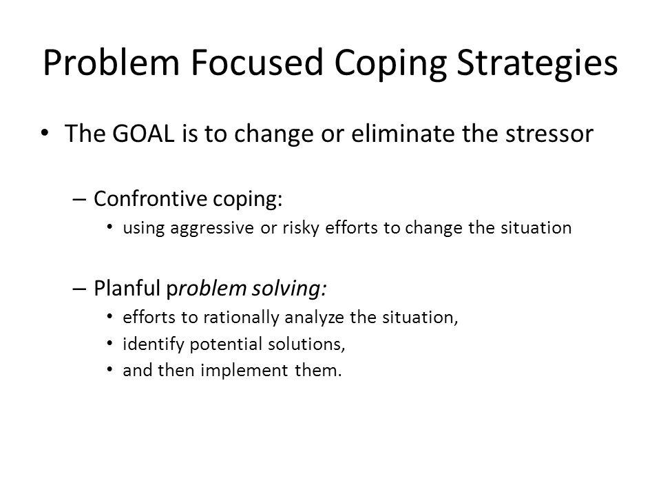 Problem Focused Coping Strategies